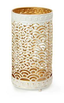 Lyhty valkoista ja kultaa - Kynttilät, lyhdyt ja tarvikkeet - 149338 - 1