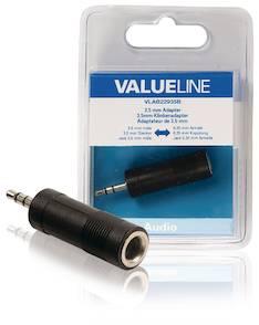 Äänisovitin 3,5mm Valueline - Kaapelit ja kaapelikourut, jatkojohdot - 146368 - 1