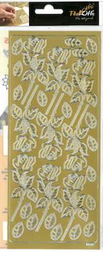 Ääriviivatarra iso ruusu - Tarrat ja tarrakirjat - 136018 - 1