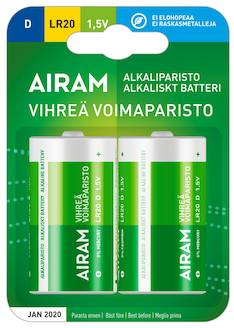 Paristo Airam LR20 D  alkaline - Paristot - 139478 - 1