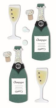 Champagne-tarra-arkki - Askartelutarvikkeet - 137248 - 1