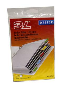 Hakemistokieleke 3L 12x25mm - Etiketit-, tulostuskortit ja tarrakalvot - 109998 - 1