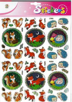 Jättitarra-arkki metsäneläimet - Tarrat ja tarrakirjat - 148668 - 1