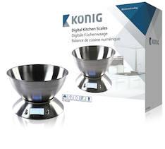 Keittiövaaka König digitaalinen 5kg - Ruuanvalmistustarvikkeet - 139998 - 1