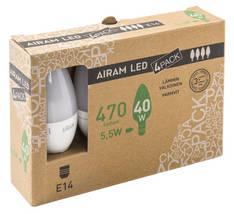 Kynttilälamppu Led E14 470lumen AIRAM - Varalamput ja loisteputket - 150768 - 1