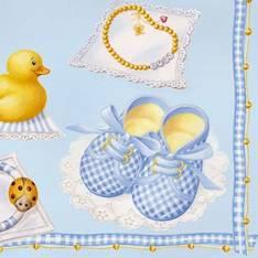 Lautasliina 33x33cm baby boy fsc mix - Servietit ja lautasliinat - 143788 - 1