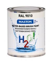 Maali H2O! 1L RAL9010 MASTON - Maalaustarvikkeet - 146898 - 1