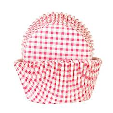 Muffinssivuoka pinkki-valkoruutu (50 kpl) paperia - Ruuanvalmistustarvikkeet - 136898 - 1
