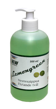 Nestesaippua 500ml KW Lemongreen - Saippuat ja annostelijat - 127538 - 1