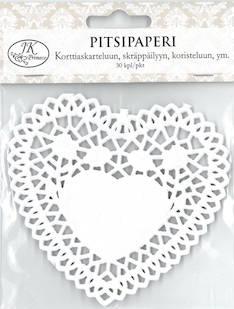 Pitsipaperi sydän 30kpl/pkt - Tarrat ja tarrakirjat - 146498 - 1