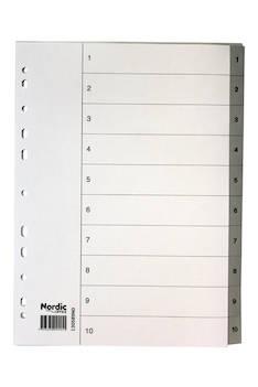 Rekisteri 1-10 A4 NORDIC muovi - Rekisterisarjat,muoviset - 102108 - 1