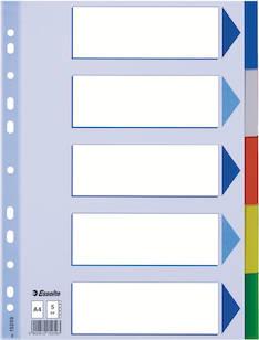 Rekisteri 5-os. A4 ESSELTE muovi - Rekisterisarjat,muoviset - 102118 - 1