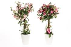Ruusu ruukussa 57cm värilajitelma - Tekokukat - 135888 - 1