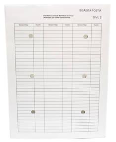 Sisäisenpostin kansio A4 THS 50800 - Muut postituspussit - 110298 - 1