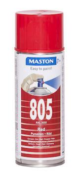 Spraymaali 100 400ml ral3000 - Maalaustarvikkeet - 136248 - 1