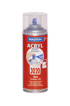 Spraymaali acrylcomp ral3020 400ml - Maalaustarvikkeet - 136218 - 1