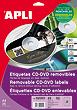 Tulostustarra 114/41mm CD DVD APLI 2-jak - Tulostus- ja kopiotarrat - 108168 - 1