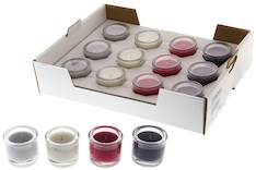 Tuoksukynttilä lasissa lajitelma 6x6,5cm - Kynttilät, lyhdyt ja tarvikkeet - 148058 - 1
