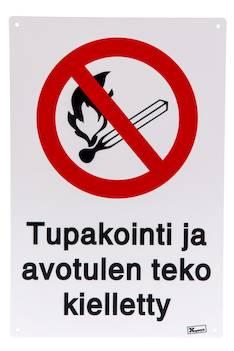Xpert opaste tupakointi ja avotulen teko kielletty - Kiinteistövarusteet  - 140118 - 1