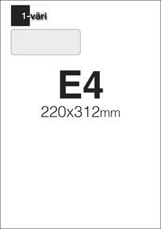 Kirjekuori E4 1/0 - Kirjekuoret - 151698 - 1