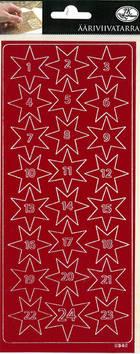Ääriviivatarra kalenterinumerot - Tarrat ja tarrakirjat - 153498 - 1