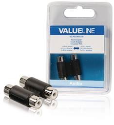 Ääniliitoskappale 2 x RCA Valueline - Kaapelit ja kaapelikourut, jatkojohdot - 146369 - 1