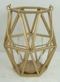 Lyhty Goldengeo 17x15x26cm - Kynttilät, lyhdyt ja tarvikkeet - 149339 - 1