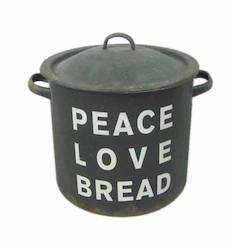 Peltipurkki kannellinen peace,love,gread - Piensisustaminen - 149849 - 1
