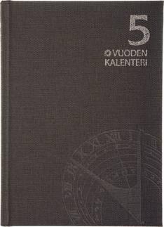 5 vuoden kalenteri, päiväämätön  harmaa - Ajasto kalenterit - 152589 - 1