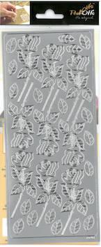 Ääriviivatarra iso ruusu - Tarrat ja tarrakirjat - 136019 - 1