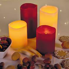 Airam carla led vahakynttilä 10cm+timer, 2xaa - Jouluun valot,koristeet,tekstiilit - 144299 - 1