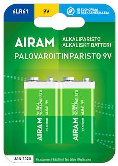 Paristo Airam 6LR61 9V  alkaline - Paristot - 139479 - 1