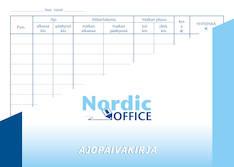 Ajopäiväkirja A5 NORDIC - Lomakkeet - 102329 - 1