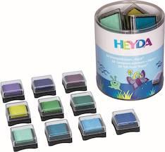 Aqua-leimasinvärityyny, 10 väriä - Askartelutarvikkeet - 141219 - 1