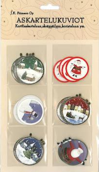 Askartelukuvio joulukuviopallot - Askartelutarvikkeet - 143409 - 1