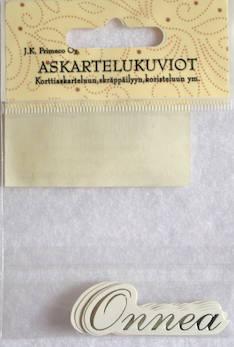 Askartelukuvio onnea hopea - Askartelutarvikkeet - 136069 - 1
