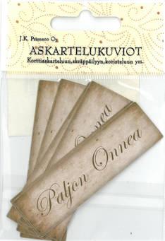 Askartelukuvio paljon onnea nostalgia - Askartelutarvikkeet - 136059 - 1