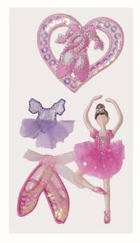 Ballerina tekstiili tarra-arkki - Askartelutarvikkeet - 137299 - 1