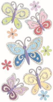 Butterflies-tarra-arkki - Askartelutarvikkeet - 137279 - 1