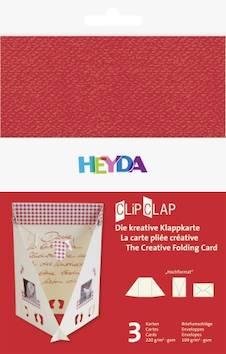 Clipclap-korttisetti b6, 3 kuorta, korttia punainen - Askartelutarvikkeet - 137319 - 1