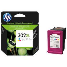 HP 302XL  mustesuihku - HP mustesuihkuväripatruunat - 147789 - 1