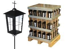Hautalyhty musta ristillä display - Kynttilät, lyhdyt ja tarvikkeet - 142749 - 1