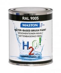 Maali H2O! 1L RAL9005 MASTON - Maalaustarvikkeet - 146899 - 1