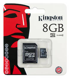 Muistikortti KINGSTON MicroSDHC 8GB - USB muistitikut ja kortit - 133799 - 1