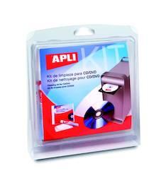 Puhdistussetti APLI CD/DVD 3-os. - ATK:n puhdistusaineet ja liinat - 126759 - 1