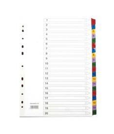 Rekisteri 1-20 A4 HSK Mylar - Rekisterisarjat,muoviset - 150459 - 1