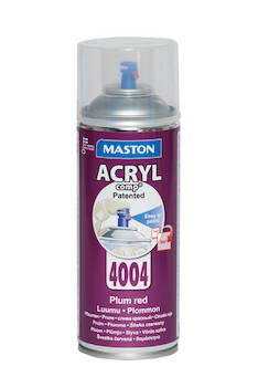 Spraymaali acrylcomp ral4004 400ml - Maalaustarvikkeet - 136219 - 1