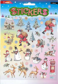 Tarra-arkki joulumaa - Tarrat ja tarrakirjat - 148949 - 1