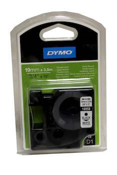 Tarranauha DYMO 19mm 16958 nylon - Tarra- ja kohokirjoitinteipit Dymo - 113989 - 1