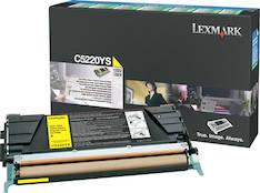 Värikasetti LEXMARK C5220YS laser - Lexmark laservärikasetit ja rummut - 118219 - 1